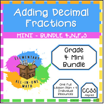Adding Decimal Fractions - Mini Bundle (4.NF.5)