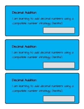 Adding Decimal Tenths Student Booklet