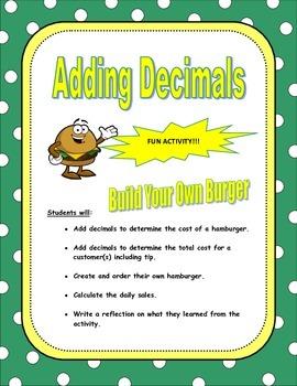 Adding Decimals Activity