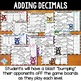 Adding Decimals Games: 10 Differentiated Bump Games for Decimal Addition