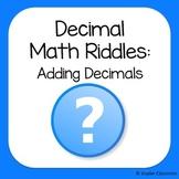 Adding Decimals Math Riddles