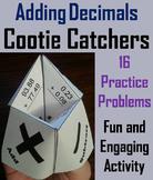 Adding Decimals Practice/ Adding Decimals Game 4th 5th 6th Grade