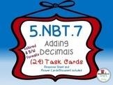 Adding Decimals (5.NBT.7) Task Cards