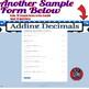 Adding Decimals--6-Pack--Google Forms