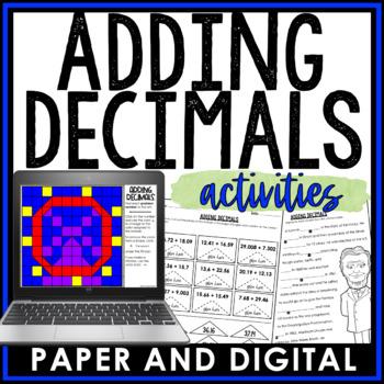 Adding Decimals Activity Pack