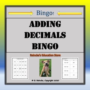 Adding Decimals Bingo (30 pre-made cards!)