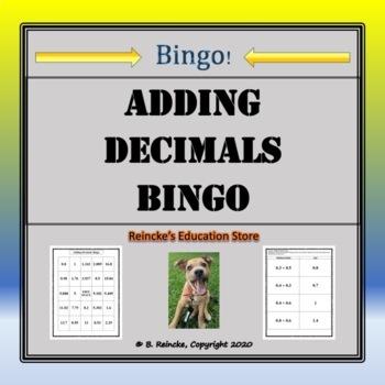 Adding Decimals Bingo (30 pre-made cards!)