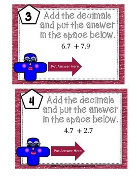 Adding Decimals Boom Cards--Digital Task Cards