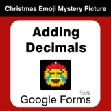 Adding Decimals - Christmas EMOJI Mystery Picture - Google Forms