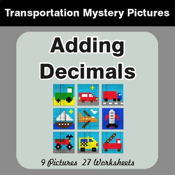 Adding Decimals - Color-By-Number Mystery Pictures