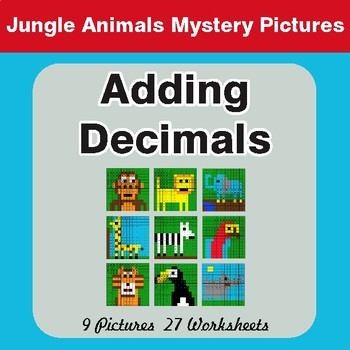 Adding Decimals - Color-By-Number Math Mystery Pictures