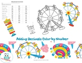 Adding Decimals Color by Number