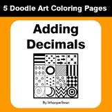 Adding Decimals - Coloring Pages | Doodle Art Math