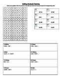Adding Decimals Coloring Worksheet