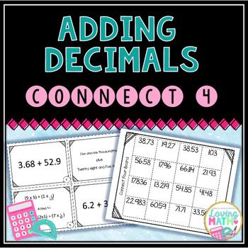 Adding Decimals Center Game