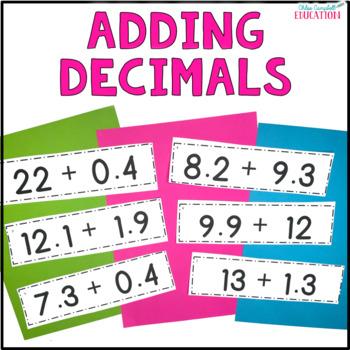 Adding Decimals Differentiated Activity