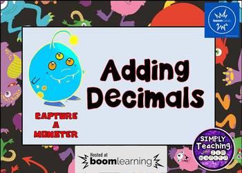Adding Decimals Digital Boom Cards