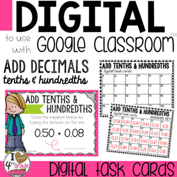 Adding Decimals Digital Lesson to use with Google Classroom