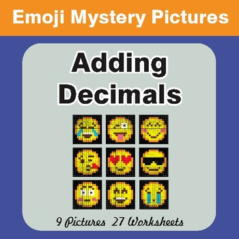 Adding Decimals EMOJI Math Mystery Pictures