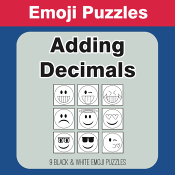 Adding Decimals - Emoji Picture Puzzles