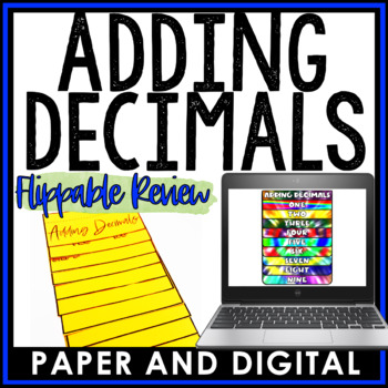 Adding Decimals Flippable Practice and Review 6.NS.B.3