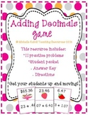 Adding Decimals Game - Large or Small Group Activity