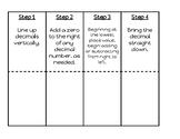 Adding Decimals Interactive Notebook