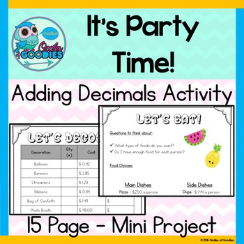 Adding Decimals - It's Party Time!
