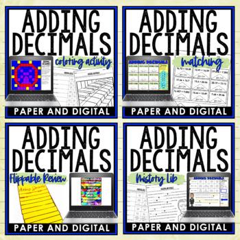Adding Decimals Lesson Bundle