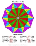 Adding Decimals Mandala Math Color by Number
