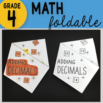 Math Doodle - Adding Decimals ~ INB Foldable Notes ~