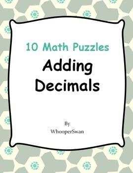 Adding Decimals Puzzles