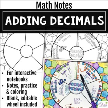 Adding Decimals Math Wheel
