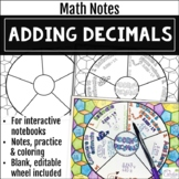 Adding Decimals Math Wheel