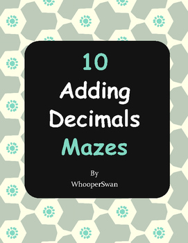 Adding Decimals Maze