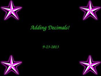 Adding Decimals PowerPoint