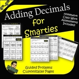 Adding Decimals Practice Worksheets and Test-Addition