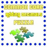 Adding Decimals Puzzle - Addition through Hundredths Place
