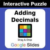 Adding Decimals - Puzzles with GOOGLE Slides