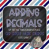 Adding Decimals QR Code Task Cards