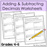 Adding Decimals Quiz (5.NBT.B.7) with Answer Key