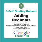 Adding Decimals Quiz  (Google Forms)