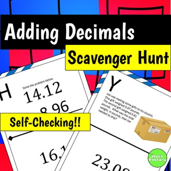 Adding Decimals Scavenger Hunt Activity