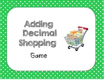 Adding Decimals Shopping Game (Math VA SOL 5.5, 4.5)