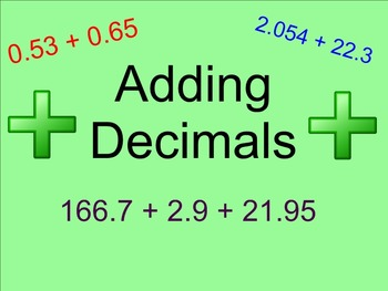 Adding Decimals - Smartboard