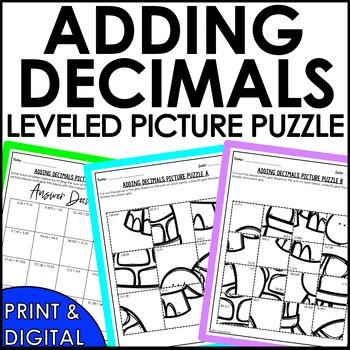 Adding Decimals Solve and Sketch Activity