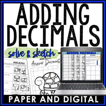 Adding Decimals Solve and Sketch Activity