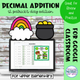 Adding Decimals | St Patricks Mystery Picture