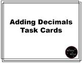Adding Decimals Task Cards