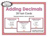 Adding Decimals Task Cards 5.NBT.B.7